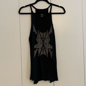 Black Tribal Pattern Tank
